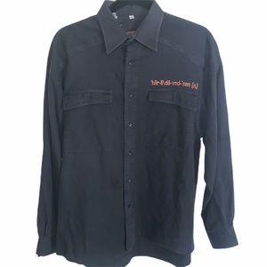 Harley Davidson Designer Store Black Button Down